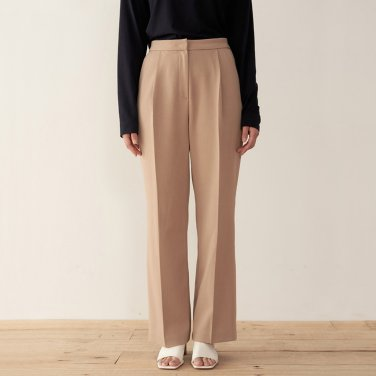 19AU TUCK PANTS (BEIGE)