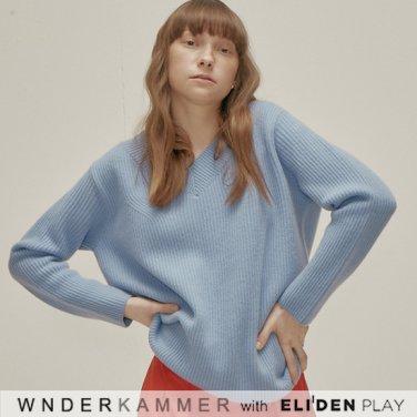 [분더캄머:WNDERKAMMER] Wool Sweater Top_Light Blue (WK9F0-WOSW060)