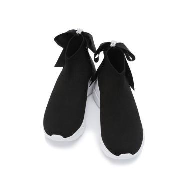 블랙 리본배색 삭스핀스니커즈 (굽높이: 5cm)JKSO9E101