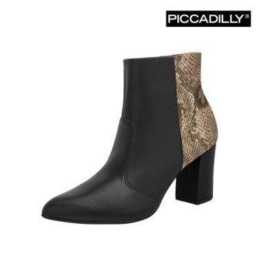 [PICCADILLY] 피카딜리 앵클부츠 블랙스네이크 (746005_7.5cm)