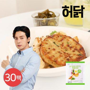 프리미엄 닭가슴살 스테이크 매콤청양 100g 30팩