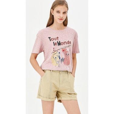 빈티지 드로잉 프린트 티셔츠 BATS05941