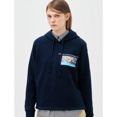 [Online Exclusive] 네이비 그래픽 후드 스웨트 셔츠 (BF9241N01R)