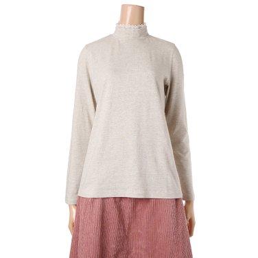 [여성]하이넥 레이스 배색티셔츠(T188MTS232W)