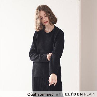 [우아솜메] Ouahsommet CASHMERE KNIT PULL-OVER [BLACK] (OBBPO006A)