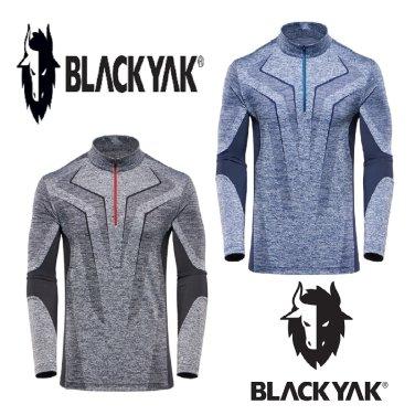 블랙야크 남성 기능성 짚업 긴팔티셔츠 M캐틀티셔츠 1BYTSF8014