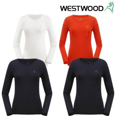 웨스트우드 여성 긴팔 라운드 냉감 티셔츠 WZ0WCCT754