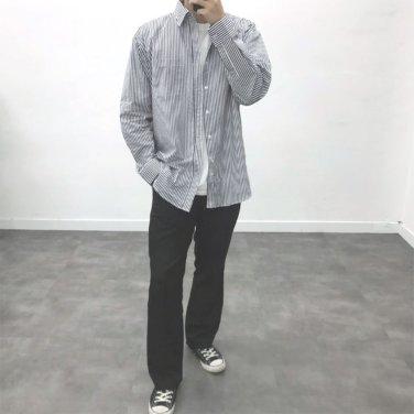 남성 6컬러 오버핏 코튼 스트라이프 오버핏 셔츠_SH0156