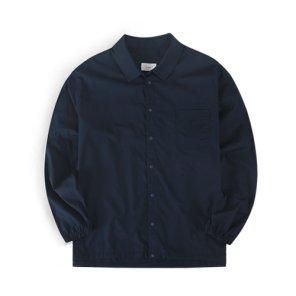 19F/W 오버핏 스트링 스냅 셔츠 (네이비)