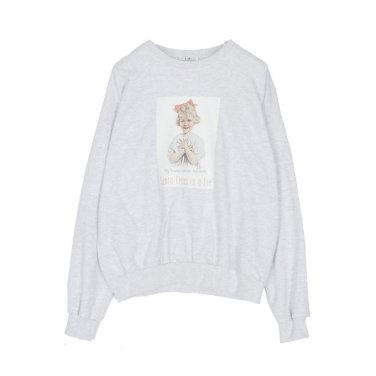 라운드넥 소녀 오버핏 롱긴팔 티셔츠 (AKEWT117)