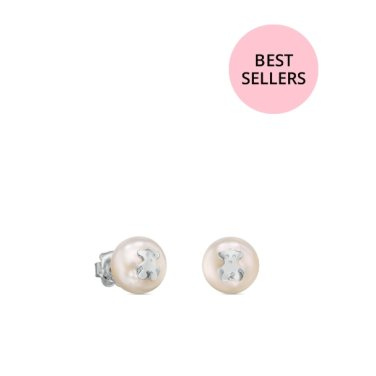 [TOUS]Silver TOUS Pearl Earrings with Pearl/411143500