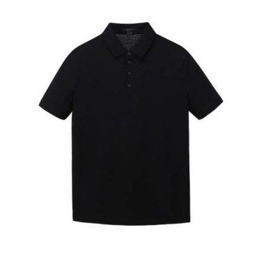 블랙 솔리드 카라 반팔티셔츠  JNTS9B305BK