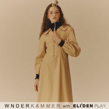 [분더캄머:WNDERKAMMER] Cotton Flared Dress_Yellow (WK9F8-CFOP010)