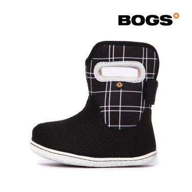 [보그스] 19FW 베이비부츠 - 라인 블랙 유아 겨울 방한부츠