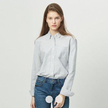여 옥스포드 셔츠(패턴) 340502P