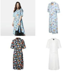 1 W S HOLIDAY S/S LONG SHIRTS [NH8NK30] 여성 홀리데이 반팔 롱 셔츠