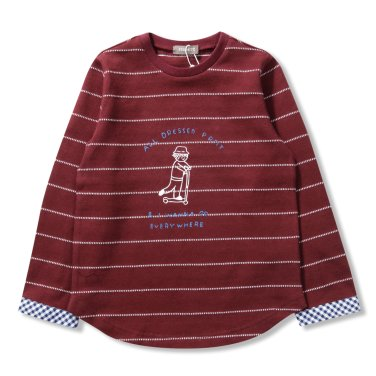 남아소년 배색 티셔츠 (P1911T116_25)