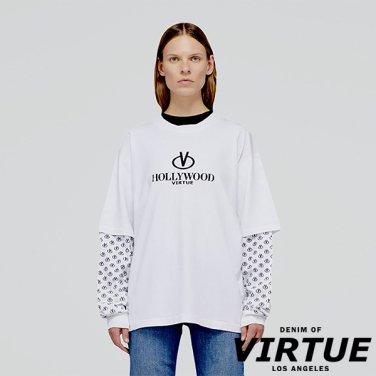 [미국] HOLLYWOOD LAYERED LONG TEE WHITE (VW01D6611T.WH)