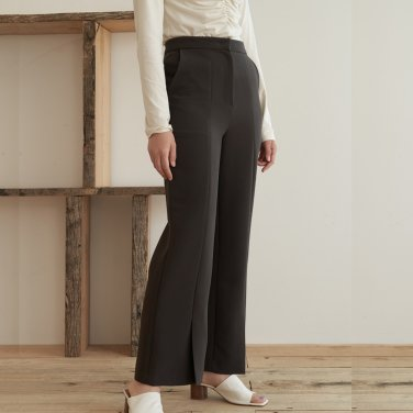 19AU SLIT PANTS (BROWN)