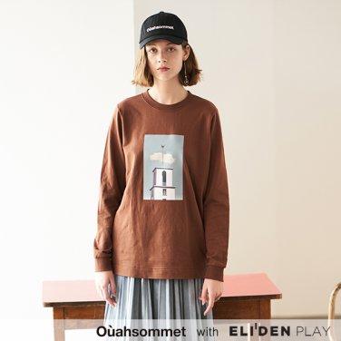 [우아솜메] Ouahsommet LONG SLEEVE PRINT TOP [BROWN] (OBBTS007A)