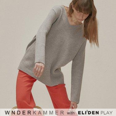[분더캄머:WNDERKAMMER] Wool Sweater Top_Grey (WK9F0-WOSW060)