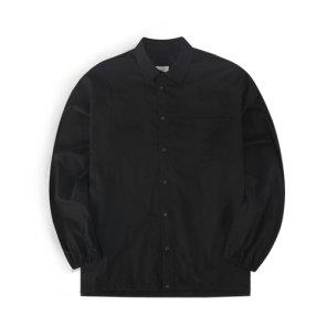 19F/W 오버핏 스트링 스냅 셔츠 (블랙)