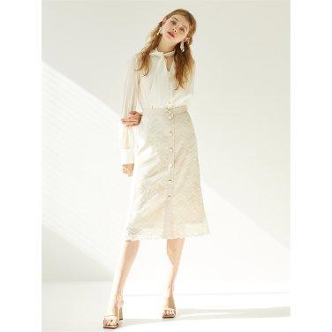 [에프코코로미즈] button p lace skirt