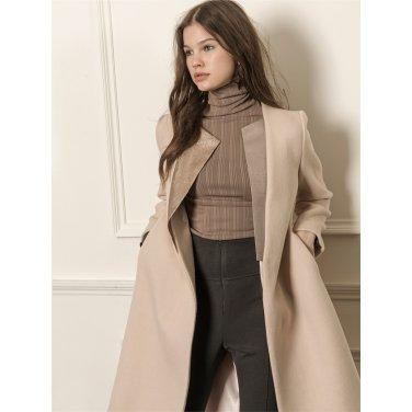 [까이에] Straight pocketed coat