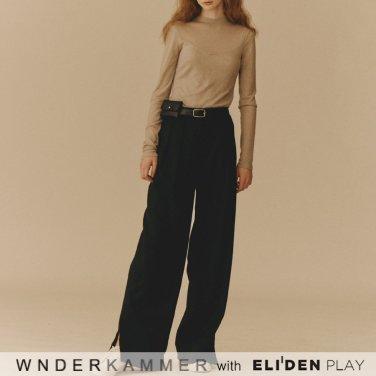 [분더캄머:WNDERKAMMER] Gabardine Span Trousers_Black (WK9F9-GSPT020)