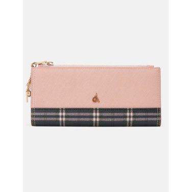(여) 핑크 브릿 2단 장지갑(가로칸) (BE91A4T02X)