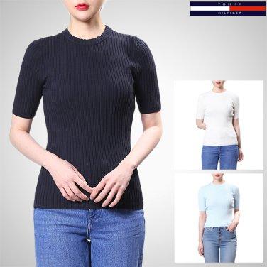 TFMT1WOE83A0(면혼방 립 반소매 스웨터)