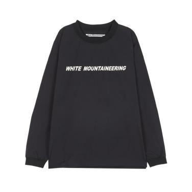 라움맨 [WHITE MOUNTAINEERING] 로고 레터링 긴팔티-RATS9F103BK