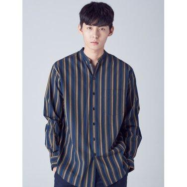 남성 그린 골드 스트라이프 셔츠 (2964WY4M)