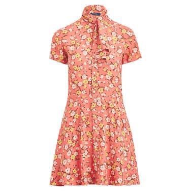폴로 랄프 로렌 넥타이 핏앤플레어 드레스(WMPODRSNN810068D56)