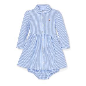폴로 랄프 로렌 베이비 스트라이프 메시 옥스포드 드레스(CWPODRSF3D10196B36)