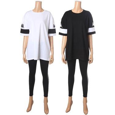 여성용 롱티셔츠+기본레깅스 KKRS283LG181FO