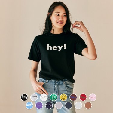 여 프린트 반팔 티셔츠(크루넥/브이넥) 399501