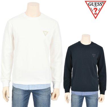 남성 스트라이프 셔츠 배색 M2M(MJ1K5401)