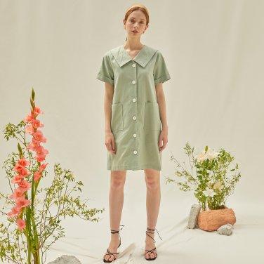 M V Neck Mini Dress_MT
