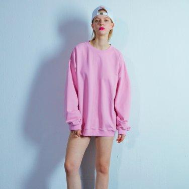 Overfit sweat shirt 002 Pink