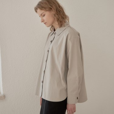 BUTTON BOX SHIRT_BEIGE