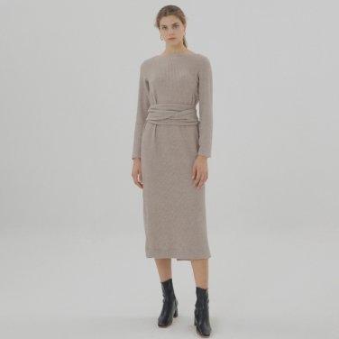 Belted Dress - Beige