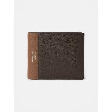 블럭 빈 슬림 반지갑+카드지갑(SmarT) - Brown (BE02A3M03D)