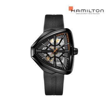 H24595331 벤츄라 스켈레톤 오토 리미티드 블랙 러버 남성 시계 (스파이더맨)