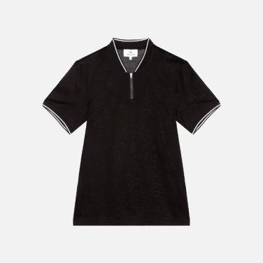 남성 코튼 스트라이프 베이스볼카라 티셔츠 VMMT1KP018A0N60