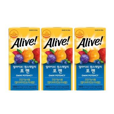 얼라이브 포맨 60정 3병 / 6개월분