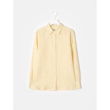 옐로우 리넨 핀 스트라이프 셔츠 (BF9464U02E_)