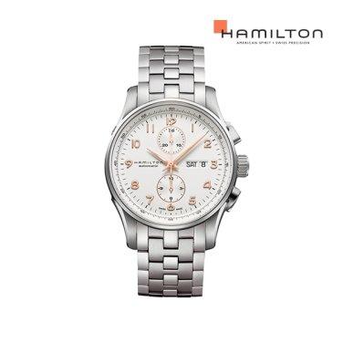 H32766113 재즈마스터 마에스트로 45mm 화이트 메탈 남성 시계