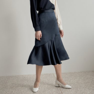 LINE MERMAID SKIRT_NAVY