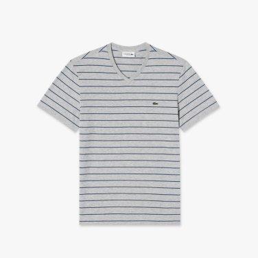 스트라이프 V넥 티셔츠 (TH3243-19B)